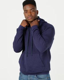 Utopia Basic Fleece Hooded Sweatshirt Navy