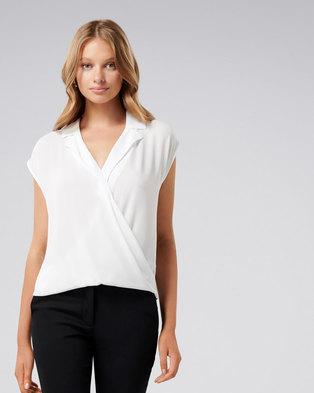 6730242d6791a Willow wrap blouse Porcelain