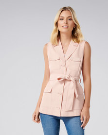 Dasha Sleeveless Safari Dusty Pink