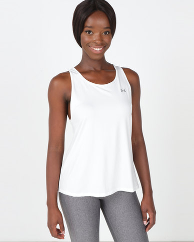 Under Armour Sports Branded Tank White