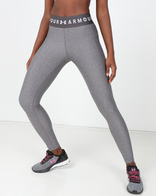 Under Armour UA HG Armour Leggings Branded WB Grey