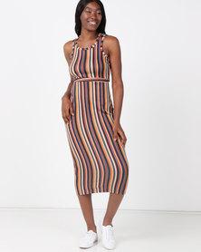 Legit Striped Tube Maxi Dress Multi