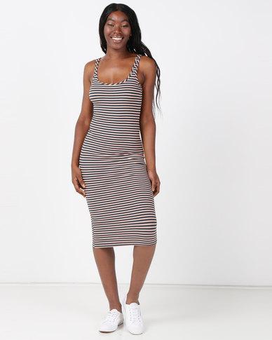 Legit Striped Tube Midi Dress Multi