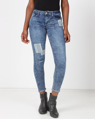 b57c7a50ef8 Legit Patch Skinny Jeans Blue