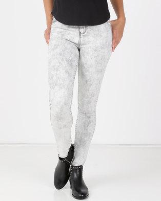 755e67e6b39 Legit Fray Hem Skinny Jeans Marble Grey