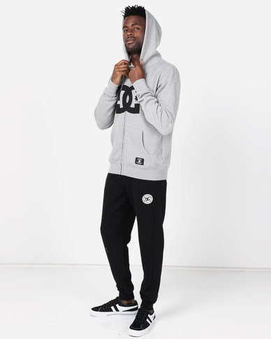 DC Star Zip Hoodie Grey Heather