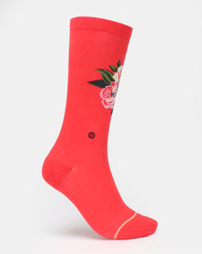 Stance Not Thirsty Crew Socks Red