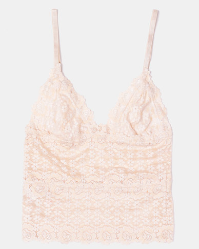 Something Sassy Lace Cami Top Nude