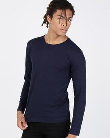 Ultimate T Long Sleeve Fashion Fit Tee Navy