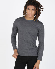 Ultimate T Long Sleeve Fashion Fit Tee Graphite Melange