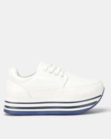 Rock Patent White Sneaker