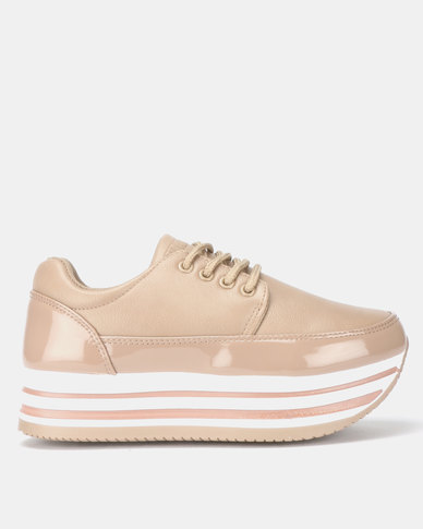 Rock Patent Taupe Sneaker