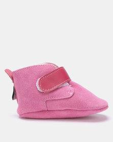 SHOOSHOOS Cherry Bomn fleece slip-on