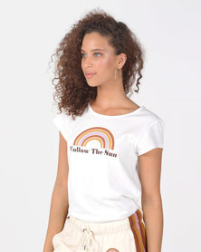 Billabong Follow The Sun Staple Tee White