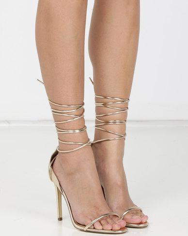 Madison Evie Heeled Sandals Gold
