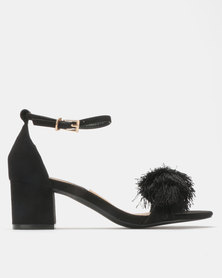 Madison Marley Mid Block Heel Sandals Black