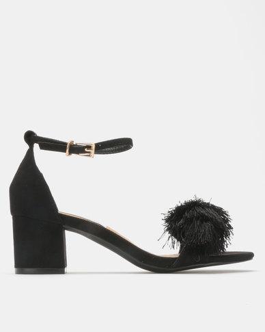Madison Marley Mid Block Heel Sandals Black