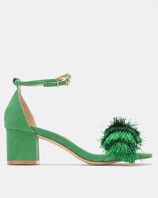 Madison Marley Mid Block Heel Sandals Green