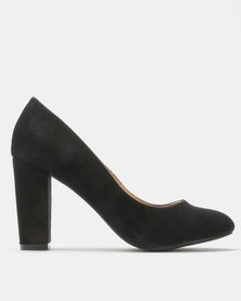Madison Idah Block Heel Court Black