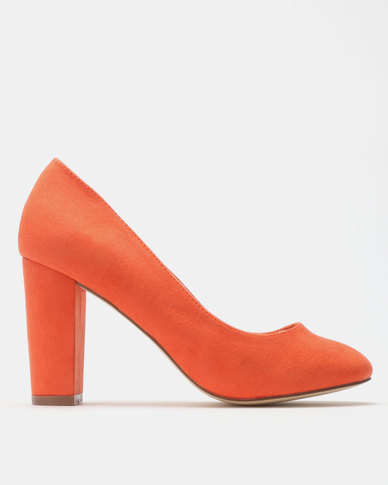 Madison Idah Block Heel Court Orange