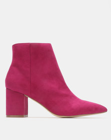 Madison Debbie Block Heel Ankle Boots Pink