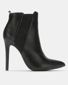 Madison Meg Stiletto Ankle Boots Black
