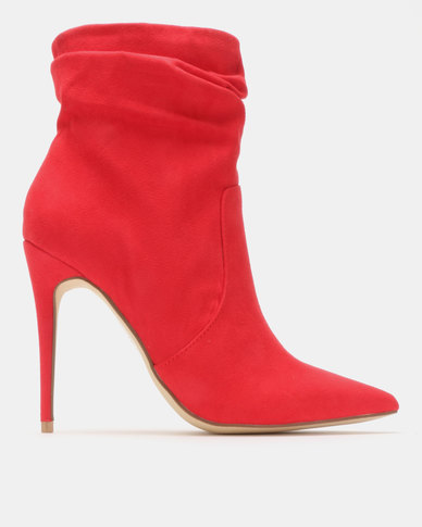 Madison Lyla Shuffle Ankle Boots Red
