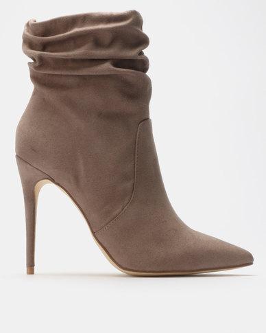 Madison Lyla Shuffle Ankle Boots Taupe
