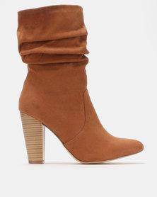 Madison Block Heel Shuffle Boots Cognac