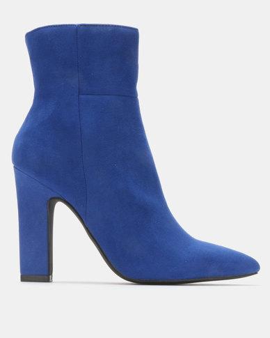 Madison Joan  Block Heel Ankle Boots Blue