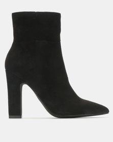 Madison Joan  Block Heel Ankle Boots Black