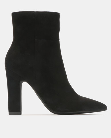 Madison Joan  Block Heel Ankle Boots Black