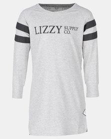 Lizzy Girls Carmae Basic Longsleeve T-shirt Dress Grey