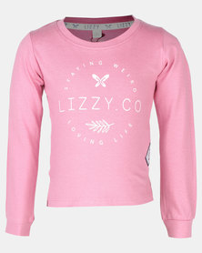 Lizzy Cimarron Heather Tots LS Tee Rose Pink