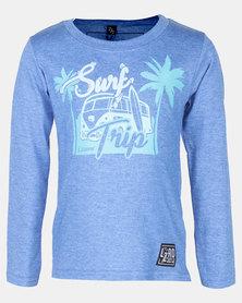 Lizzard Rinesh Snorkel Blue Tots Styled LS Tee Blue