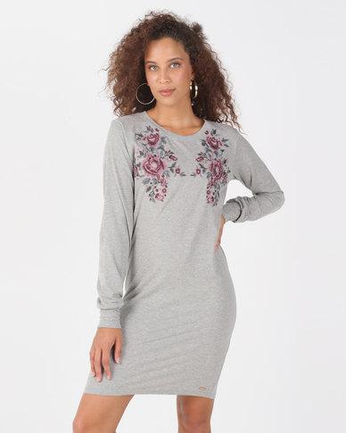 Lizzy Vilte Dress Grey Melange