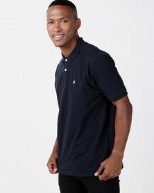 Kakiebos Cotton Pique Golfer Navy