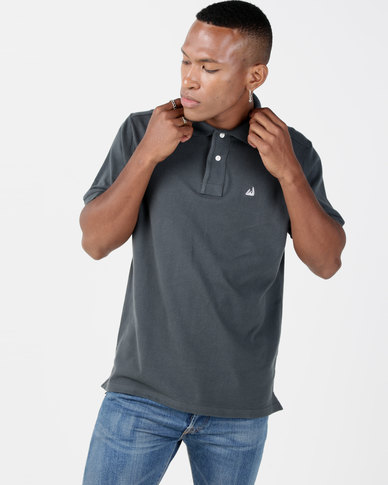 Kakiebos Cotton Pique Golfer Charcoal