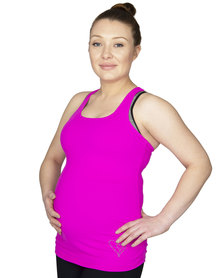 Fit Mama, Workout Racerback top, Pink Rock