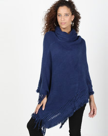 Joy Collectables Poloneck Poncho Navy