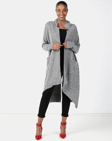 Joy Collectables Long Cardigan Grey