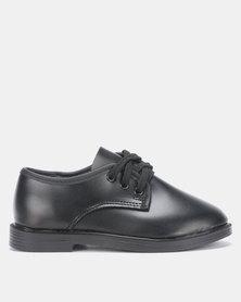 School care Black lace-up shoes Kids