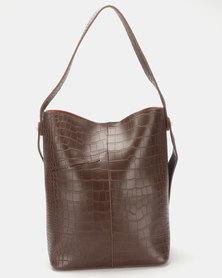 Joy Collectables Crossbody Bucket Bag Brown