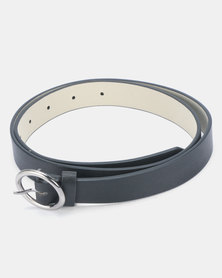 Joy Collectables Circle Buckle Belt Black