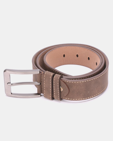 Joy Collectables Circle Buckle Belt Tan