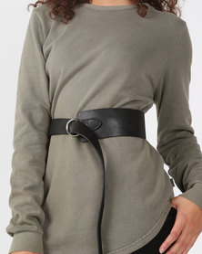 Joy Collectables Asymetrical Belt Black