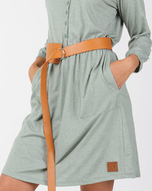Joy Collectables Asymetrical Belt Tan