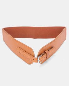 Joy Collectables Buckle Detail Waist Belt Brown
