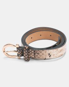 Joy Collectables Faux Snake Skin Belt Multi