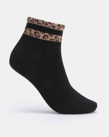Joy Collectables 5 Pack Leopard Band Socks Multi